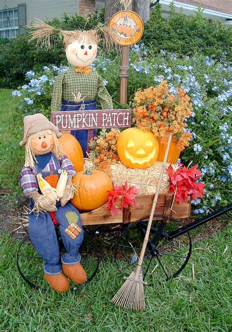 yard decorations ideas fall yard decoration ideas hay bales scarecrows and