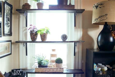 diy window shelves for plants diy show off diy