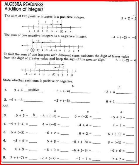 Math 8 Grade Worksheets by 8th Grade Math Worksheets Printable Project