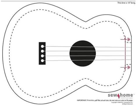 guitar card template posts felt and cards on