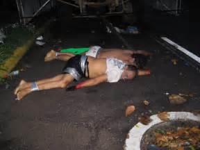 La ma 241 ana de este jueves los restos de dos personas asesinadas y