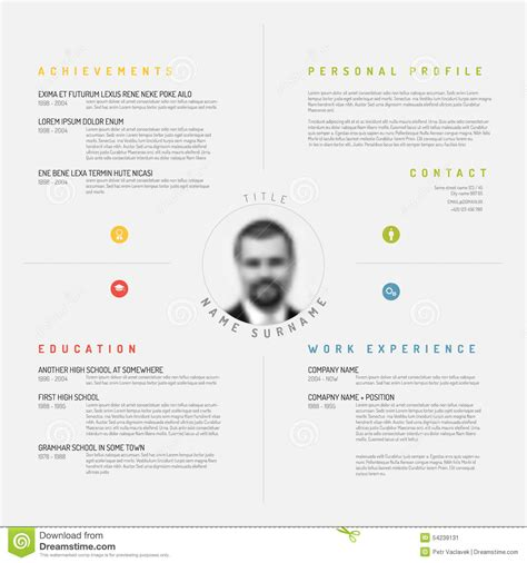 Cv / resume template stock vector. Image of hiring