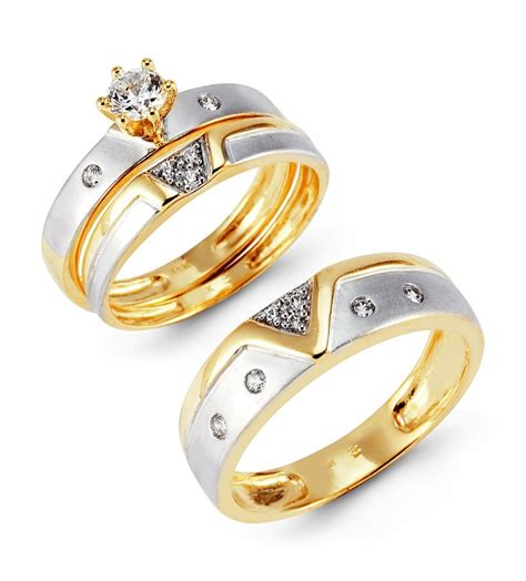 Wedding Ring Sets by Trio Wedding Ring Sets Yellow Gold Photo Ideas Jewelry