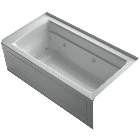 alcove whirlpool bathtub kohler archer 5 ft right drain rectangular alcove