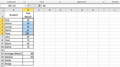 How Do You Do Excel Spreadsheets by Excel Tip 002 Average Mode Median And Range