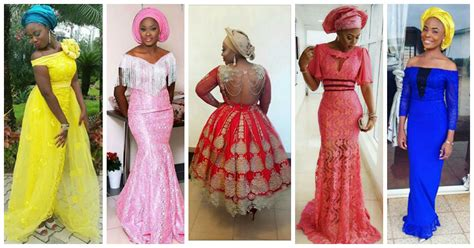 latest ashoebi lace styles step up your aso ebi styles with this trending lace