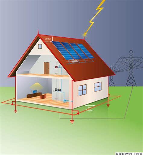 Haus Schema by Effektiver Photovoltaik Blitzschutz Erdung