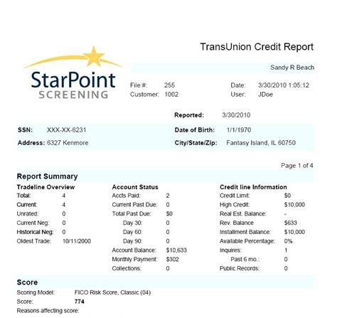 Tenant Background Check And Credit Report Starpoint Tenant Screening Offers Trans Union Tenant Credit Reports Aeiko Mitchell