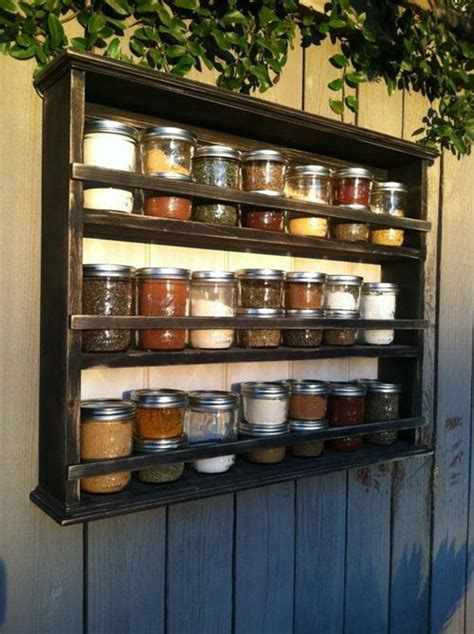 Kitchen Seasoning Rack Diy Pallet Spice Racks For Kitchen Pallets Designs