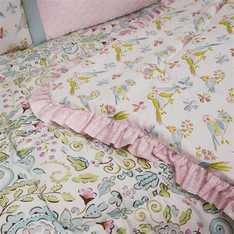 comforter with birds love birds crib comforter carousel designs
