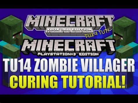 zombie villager tutorial minecraft xbox 360 ps3 quot title update 14 quot zombie
