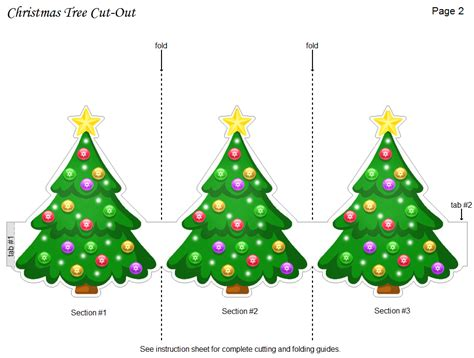 free printable christmas tree cut out holiday