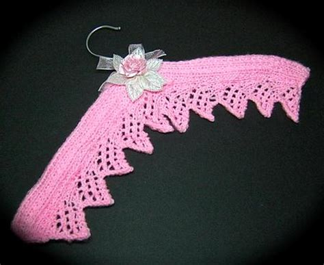 knitted lace coathangers decorative knitted coat hanger cup349353 1776
