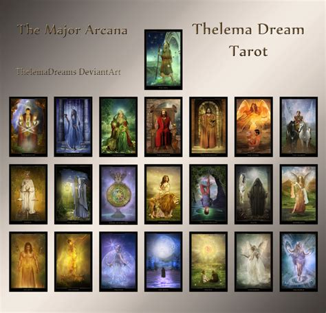 Dream Decks the major arcana thelema dream tarot by thelemadreamsart