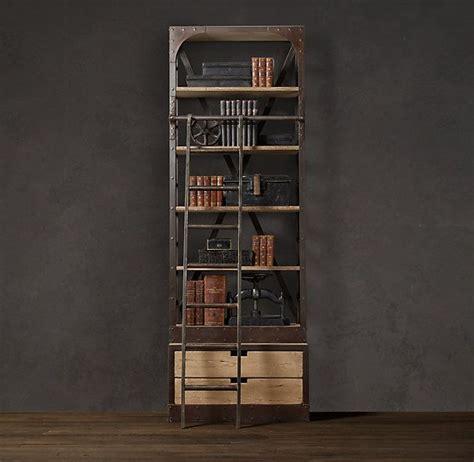 restoration hardware bookcase with ladder shapeyourminds