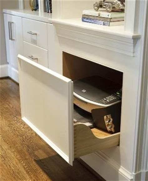 pull out printer drawer cabinet kitchen drawer