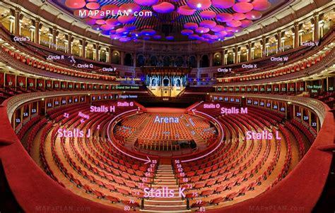 Bellagio Floor Plan by Royal Albert Hall Detailed Seat Numbers Seating Plan