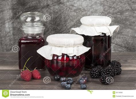 themes blackberry jar homemde jam stock photography image 35118092