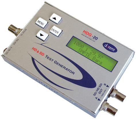 hd video pattern generator doremi hdg 20 portable hd sd sdi video generator