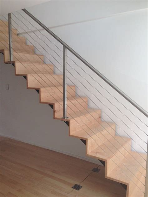 Cable Stair Railings Interior by Cable Railing And Custom Interior Staircase