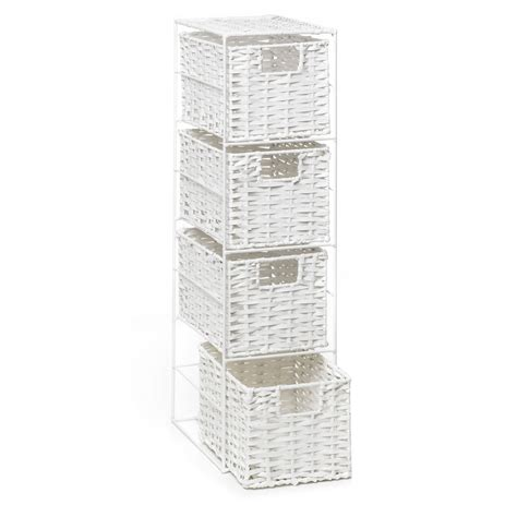 wilko 4 tier storage unit white at wilko com