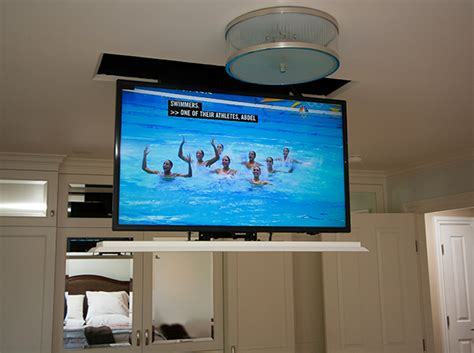 ceiling drop tv mount in ceiling drop motorized television soundvision san francisco marin napa sonoma