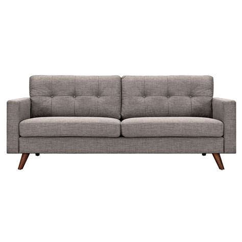 mid century modern tufted sofa uma mid century modern grey fabric button tufted sofa w