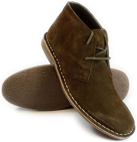 Hummer Boot Tracking Brown Suede by Desert Suede Leather Lace Up Mens Chukka Gobi