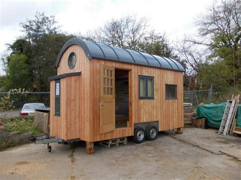 tiny house on wheels the unique curved shape of the roof