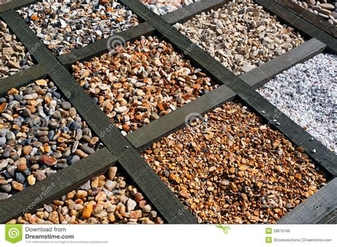 types of gravel for gardens different types of gravel royalty free stock image image