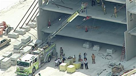 Miami Dade College Garage Collapse by Workers Injured When Garage Partially Collapses At Miami