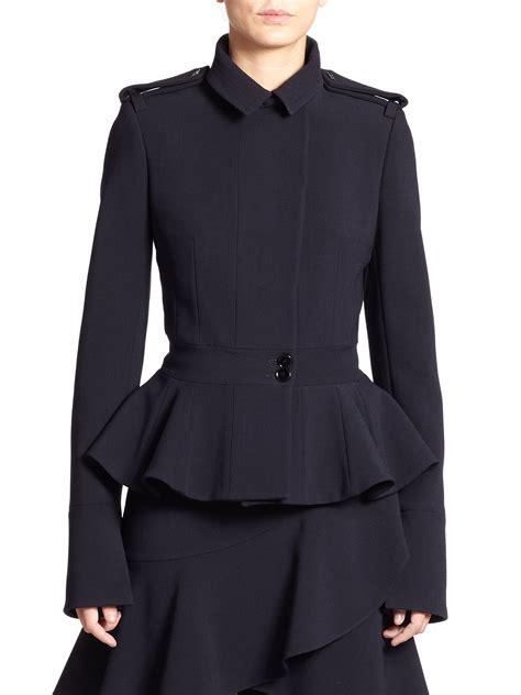 Peplum Jacket lyst mcqueen peplum jacket in blue