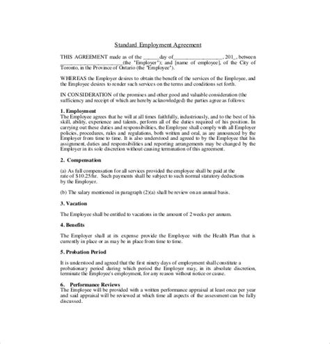 earn out agreement template 10 employment agreement templates word excel pdf