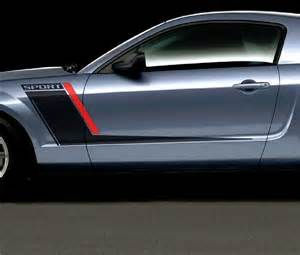 ford mustang roush style side stripes graphics decals duo