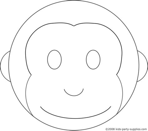 monkey birthday cake template monkey cake template lboogie