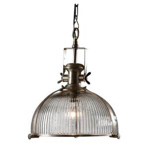Pendant Lights Industrial Industrial Ribbed Glass Pendant