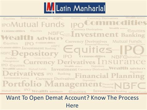 How To Open D Mat Account by Want To Open Demat Account The Process Here