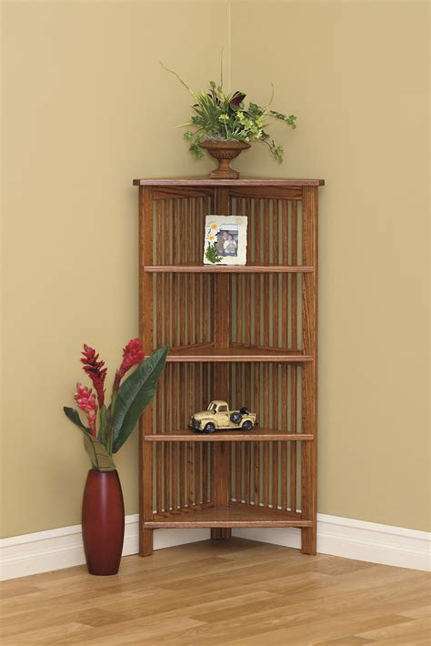 Bookcases Corner 24 Quot W Corner Bookcase Amish Furniture Connections Amish Furniture Connections