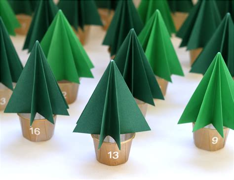 How Much Paper Does A Tree Make - ebabee likes diy mini forest advent calendar