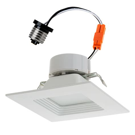 4 led can lights square led recessed lighting kit for 4 quot cans retrofit