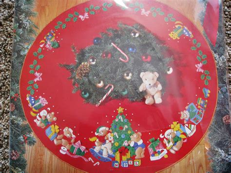 bucilla holiday felt applique tree skirt kit christmas