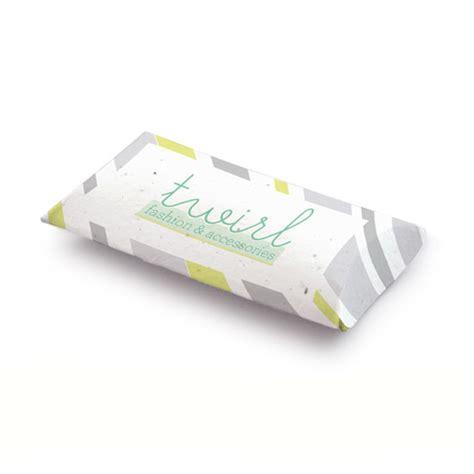 Pillow Box Floral Green Kotak Handuk Box Notes single sided seed paper pillow boxes plantable eco green