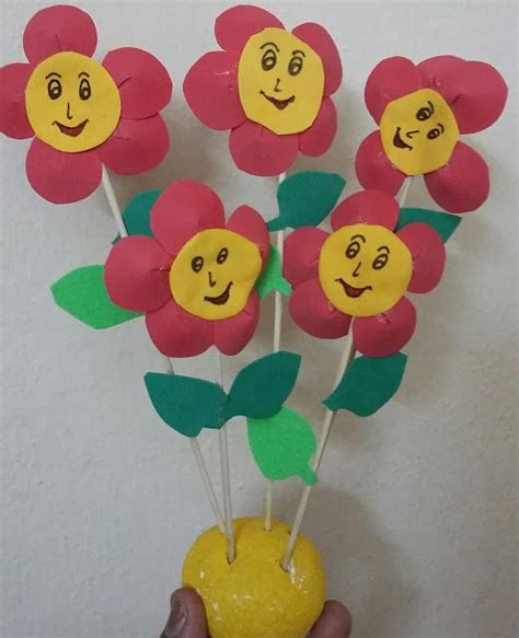 Foam Paper Craft Ideas - ssartscrafts foam flowers for
