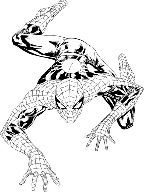 free coloring pages of spider man black suit