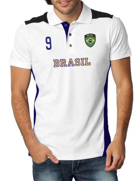 Polo Brasil Kuning 01 roupas sociais e casuais masculinas e femininas