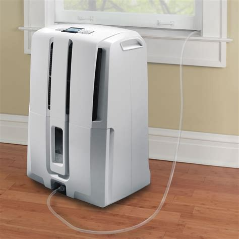 delonghi dehumidifier pumps moisture out the window