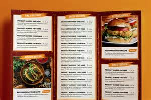 tri fold restaurant menu templates 10 food menu template for restaurant and bakery graphic