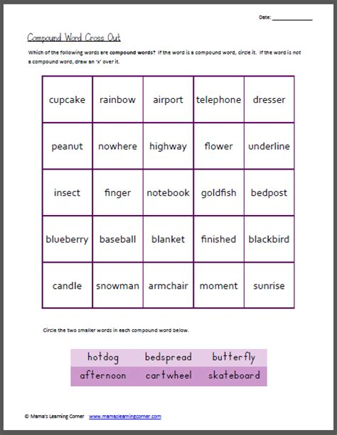 christmas compound words worksheet christmas spelling words first grade search results