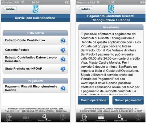 cassetta postale inps inps servizi mobile abilita i pagamenti tramite iphone