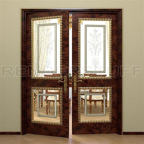 door glass insert issues door 3d model wooden with glass